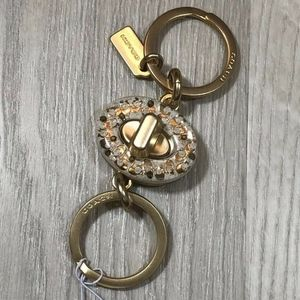 Coach Resin Signature Turnlock Valet Key Ring